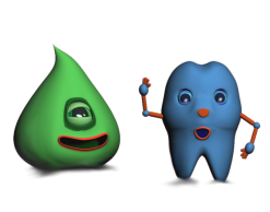 Gum Drop and Mr. Tooth (3DS Max and Gimp)